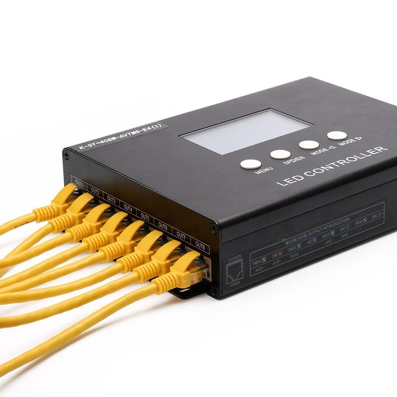 Профессиональный программируемый пиксельный светильник контроллер K SY 408, 8 канальный выход 8192 точек поддержки, с функцией управления голос... - 5
