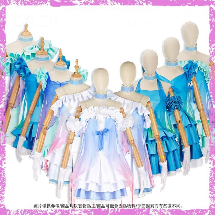 Anime! Lovelive Tojo Nozomi Koizumi Hanayo Blue Yarn sj Uniform Cosplay Costume Summer Gauze Dress For Women Free Shipping