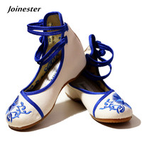 New Arrival Chinese Ethnic Style Floral Embroid Inside Height Increasing Shoes Classic Beijing Cotton Elevator Shoes