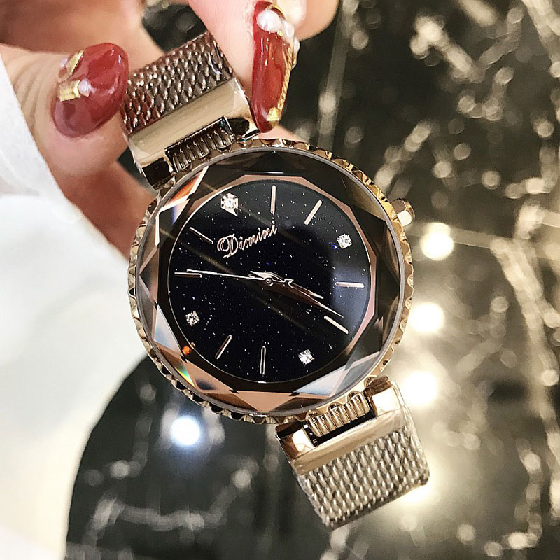 Top Brand Luxury Casual Clock Ladies Wrist Watch Relogio Feminino Gold Purple Mesh Stainless Steel Watches Women relojes mujer mini focus rose gold women watches stainless steel reloj mujer top brand luxury clock ladies quartz wrist watch relogio feminino