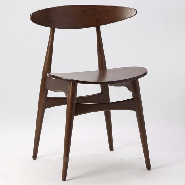 Muebles escandinavos blanco de madera de roble nogal negro sillas de ...