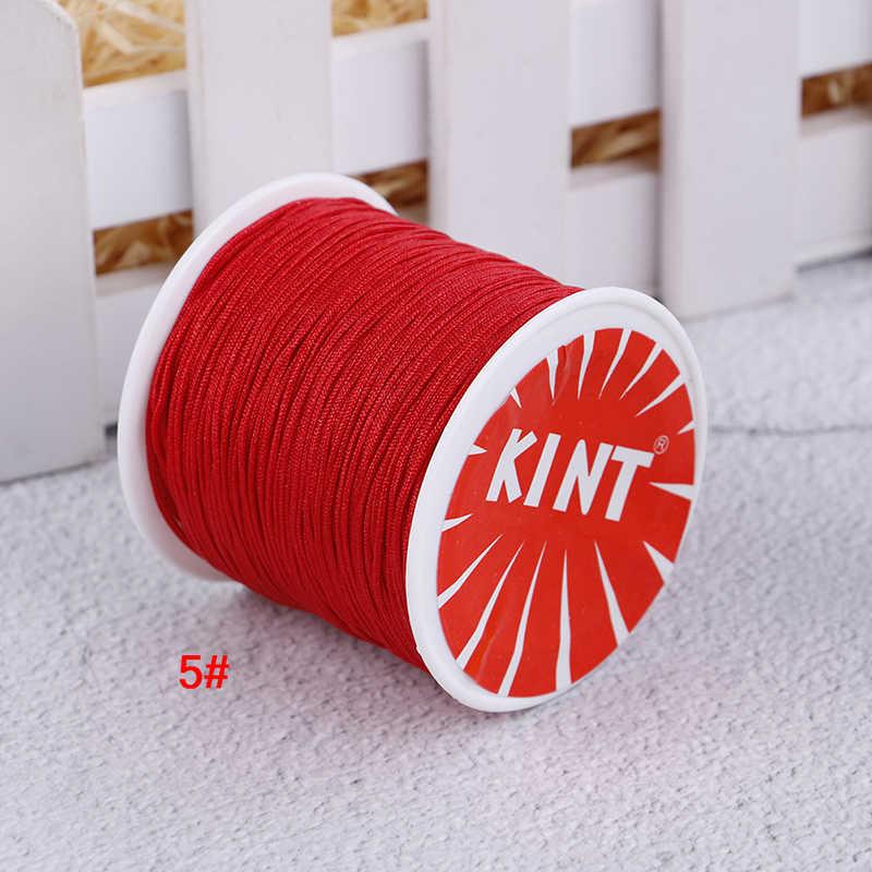 45m/0.8 มม.ด้ายจีน Knot Macrame สร้อยข้อมือถักประดับด้วยลูกปัด DIY เครื่องประดับด้าย