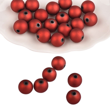 5/7/9/11mm ABS Frost Surface Loose Beads 100pcs Red Matte Plastic Round Beads for DIY Hair Earrings Jewelry Finding Making teraysun 100pcs 5 0 5 0mm round tube abs plastic pipe jyg 5 0 50cm length