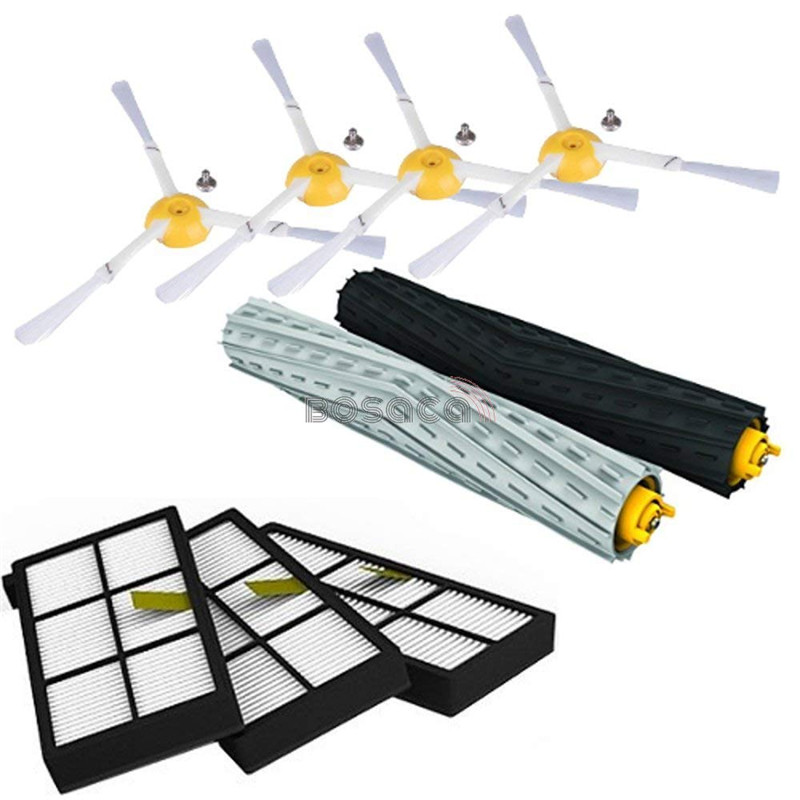 For IRobot Roomba Parts Kit Series 800 860 865 866 870 871 880 885 886 890 900 960 966 980 - Brushes and FiltersFor IRobot Roomba Parts Kit Series 800 860 865 866 870 871 880 885 886 890 900 960 966 980 - Brushes and Filters