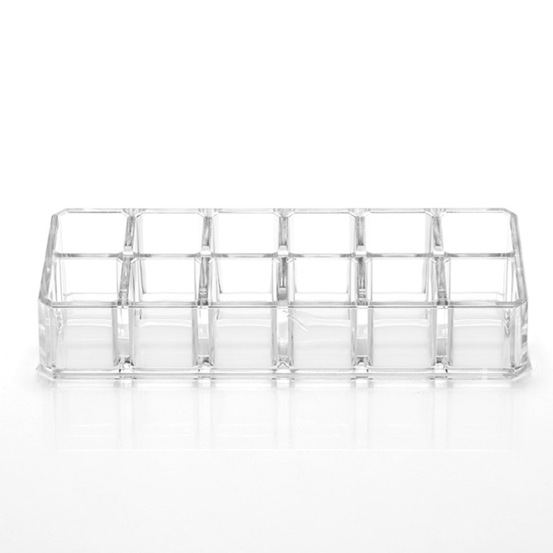 Top 12 Grids Lipstick Holder Display Stand Clear Acrylic Cosmetic Organizer Makeup Storage Box Toiletry Case