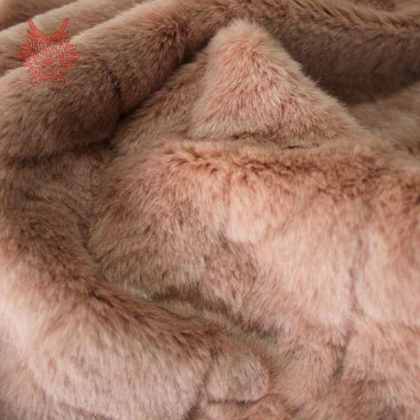 High Grade White/ Skin Red  Short Faux Fur Fabric For Winter Coat,vest,Fur Collar,cape By Half Meter Free Shipping SP717