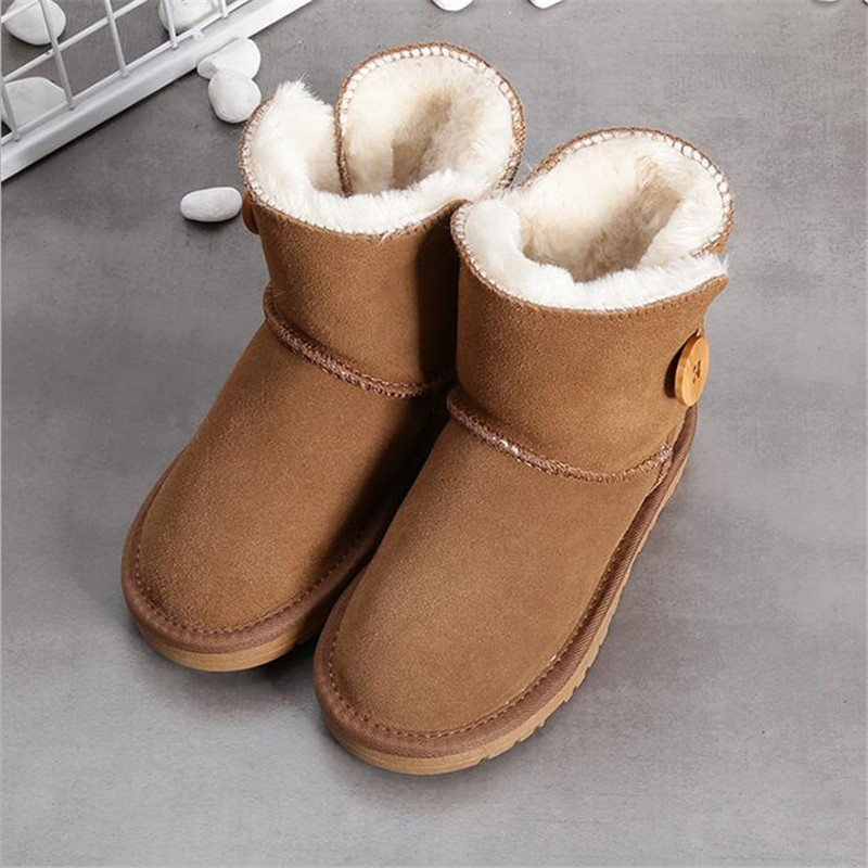 Genuine leather Europe child slip-resistant female snow boots child boots male medium-leg child cotton-padded shoes soft outsole archpole табурет oak stump