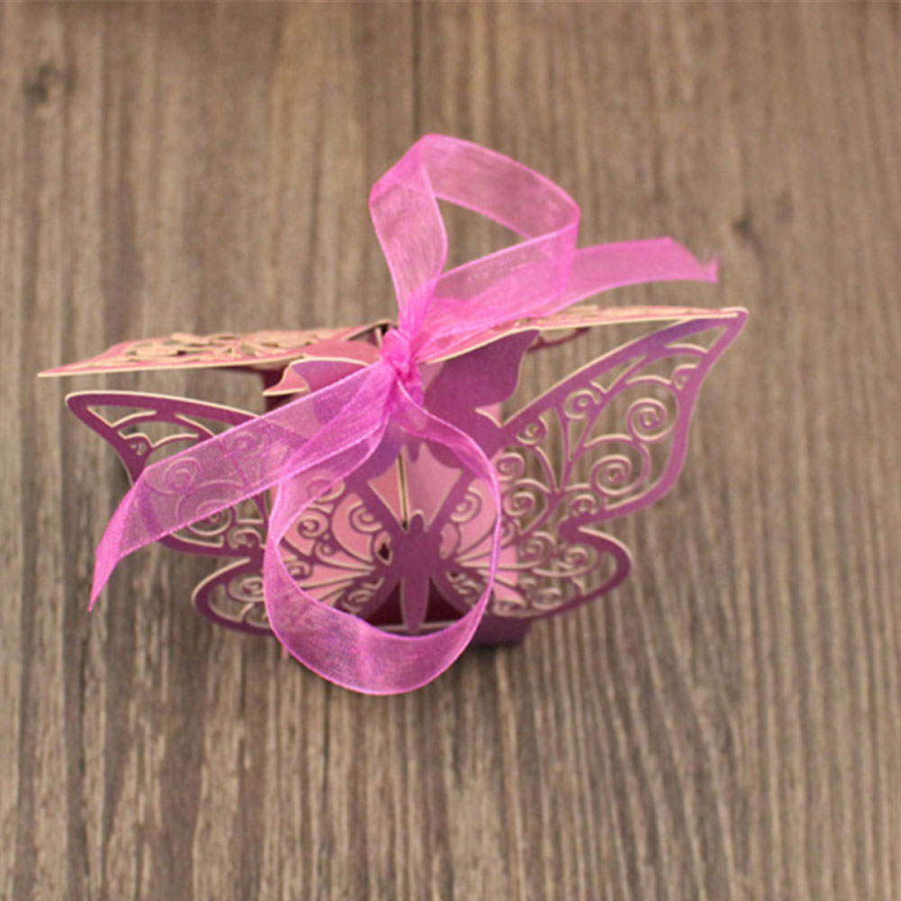 50pcs Laser Cut Butterfly Wedding Favour Box Birthday Party Gifts ...