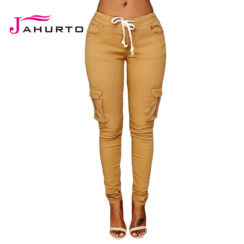 Jahurto 2016 Cargo Pants Women Fashion Pockets Patchwork
