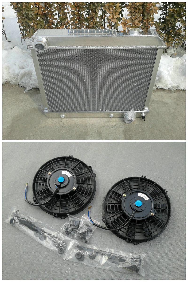 Full Aluminum Radiator 2fans 1963 1966 For Chevy Truck C10 C20