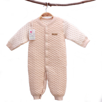 Thick Warm Infant Natural Organic Cotton Clothes Striped Baby Romper YJM107