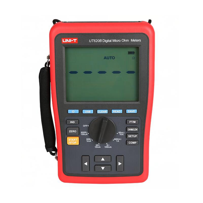 UNI T UT620B DC Digital Micro Ohm Meters low resistance tester four wire measurement data storage