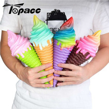 4Color Ice Cream 30*10*9.5CM Jumbo Decoration With Packaging Gift Collection Slow Rising  Soft Stress Relief Children KidsToys