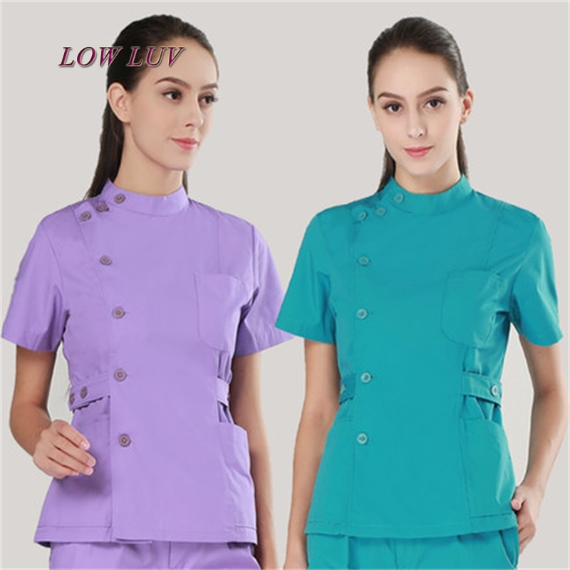 2017 Uniform Hospital Women Medical Apparel Care Matte Clothes Clothes Dental Clinic Beauty Salon Nurse Surgery Set zh077