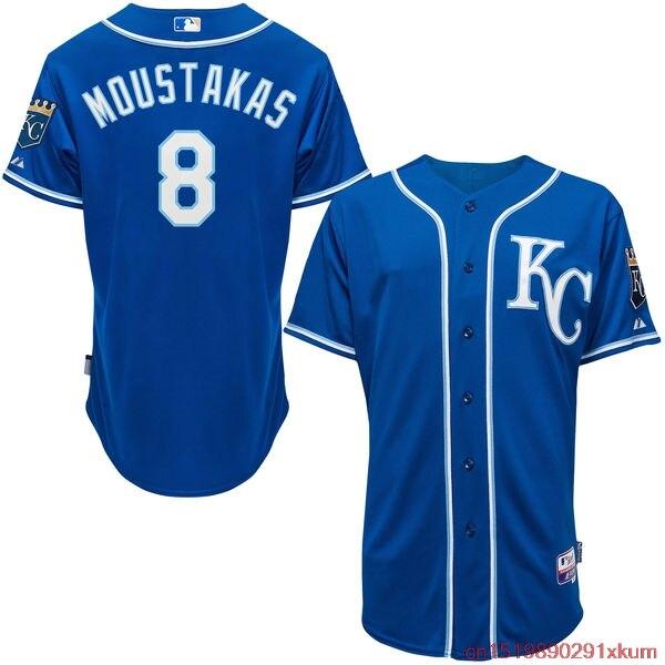 e7c0a25ee2c ... Online Shop MLB Mens Kansas City Royals Mike Moustakas Baseball Royal  Alternate 6300 Player Authentic Jersey ...