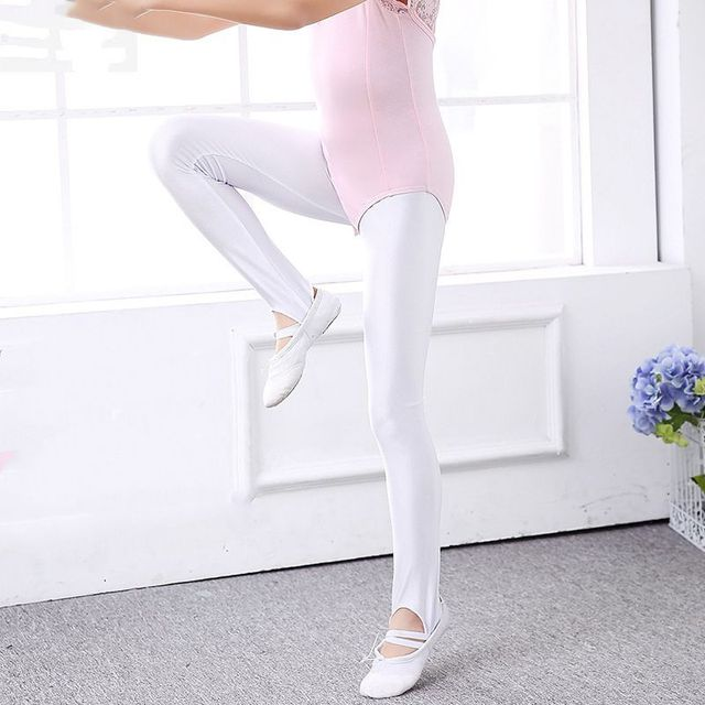 3dc5b6ce51a94 Children Ballet Convertible Tights Girl Pink Velvet Leggings Adult  Pantyhose Dance Socks White Legging Gymnastics Collant