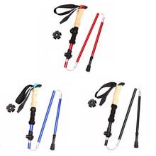 Carbon Fiber Trekking Poles Ultralight Folding Collapsible Trail Running Hiking Walking Sticks Lightweight Canes цена