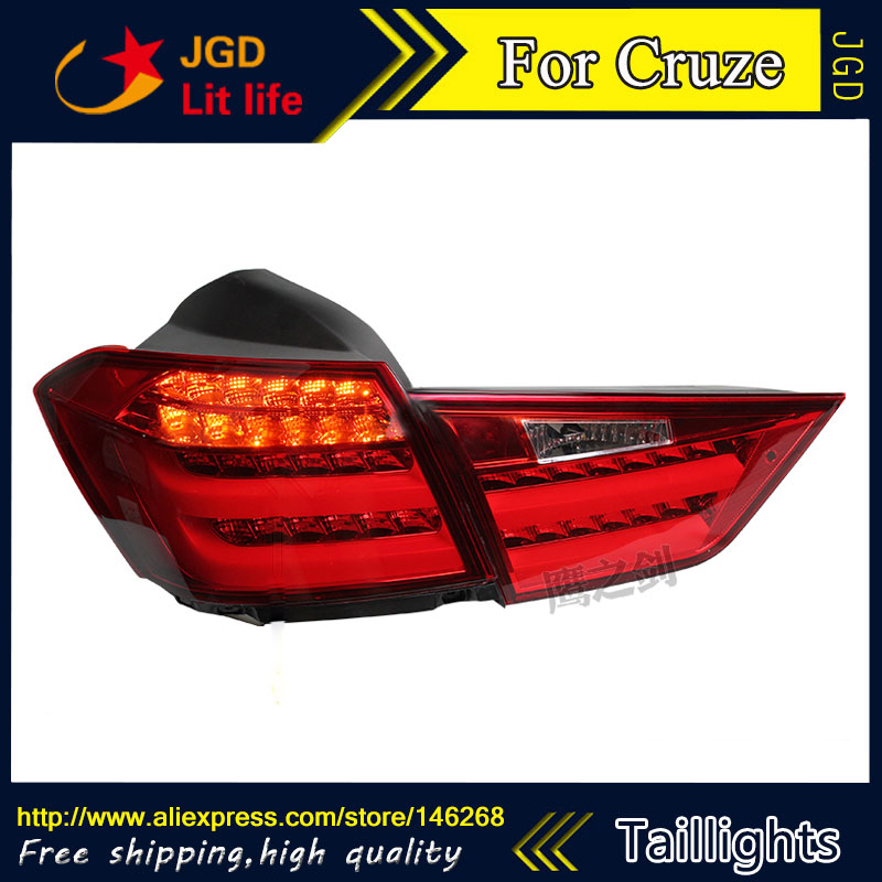 Car Styling tail lights for Cruze 2015 2016 taillights LED Tail Lamp rear trunk lamp cover drl+signal+brake+reverse 2015 milan 5000lm fanless 5000lm 6000lm 40w fish tail 6000k 881 led for all car freeshipping mmm