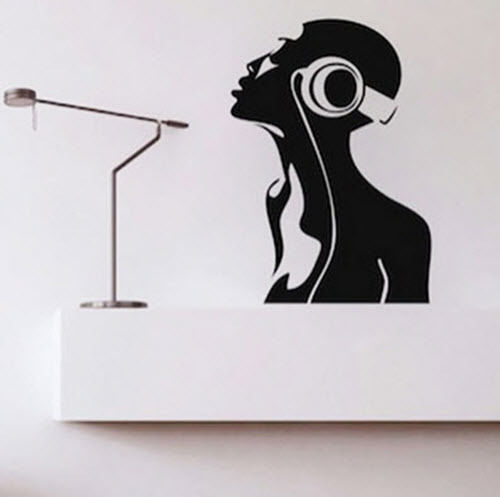 G297 Music Headphone DJ Band Room Home Removable Wall Stickers Decals Vinyl DIY Boy bedroom wall sticker decoration