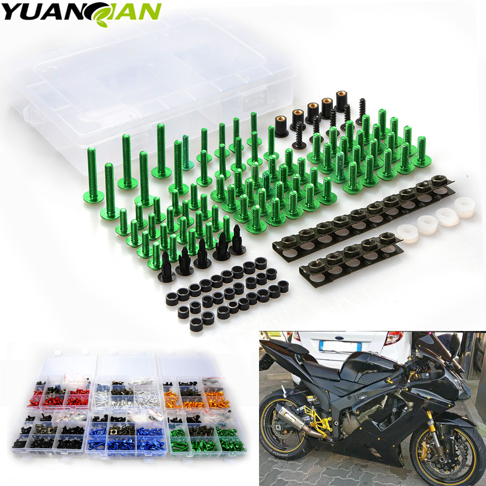 Universal CNC Motorcycle Fairing body work Bolts Fastener Clips Screws For kawasaki NINJA 250R Z125 NINJA 300r ZX6R/636 ZX10R