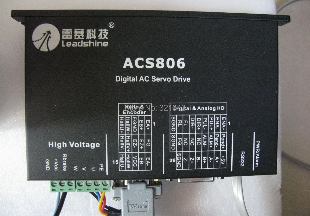 Leadshine ACS806 Brushless Servo Drive with 20 to 80 VDC Input Voltage and 18A Peak Current leadshine dc servo driver acs606 brushless servo drive max 60 vdc 18a peak
