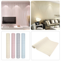 Hot Simple Modern Home Embossed Textured Lines Wallpaper Roll Striped Wallpapers For Living Room Bed Room
