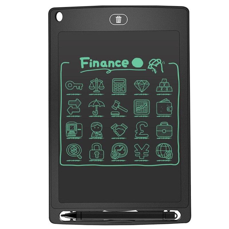 Mini 8.5 Inch Bulletin Board Blackboard Resusable Lcd Tablet Chalkboard For Childern Painting Supplies Flip Chart Writing Boards