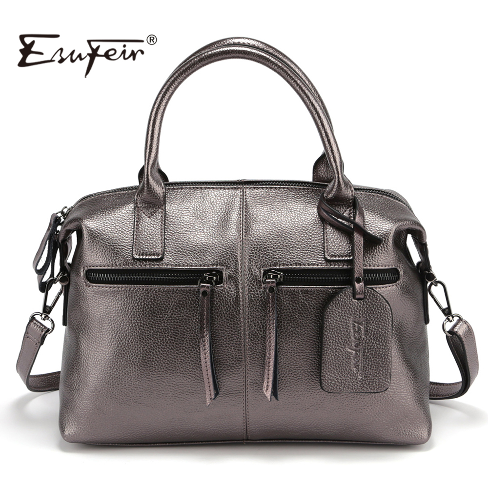 2017 Genuine Leather Boston Women Handbag Fashion Luxury Shoulder Bag Solid Zipper Women Pillow Bag Ladies Bag bolsos sac a main
