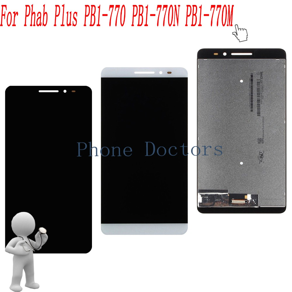6.8 inch LCD DIsplay + Touch Screen Digitizer Assembly For Lenovo Phab Plus PB1-770 PB1-770N PB1-770M pb1 770n cover soft tpu rubber back case for lenovo phab plus pb1 770n case pb1 770m back case 6 8 inch screen tablet