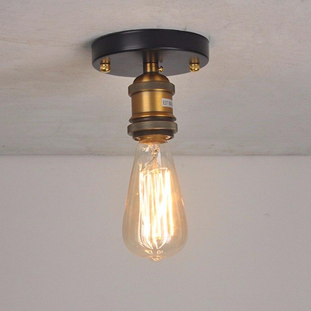 Vintage ceiling light flush mounted ceiling lamp e27 metal light fixture for kitchen bedroom hallway cafe bar home lighting
