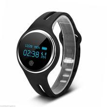 Водонепроницаемый Bluetooth 4.0 Браслет Смарт часы Спорт Здоровье Шагомер сна Трек Черный
