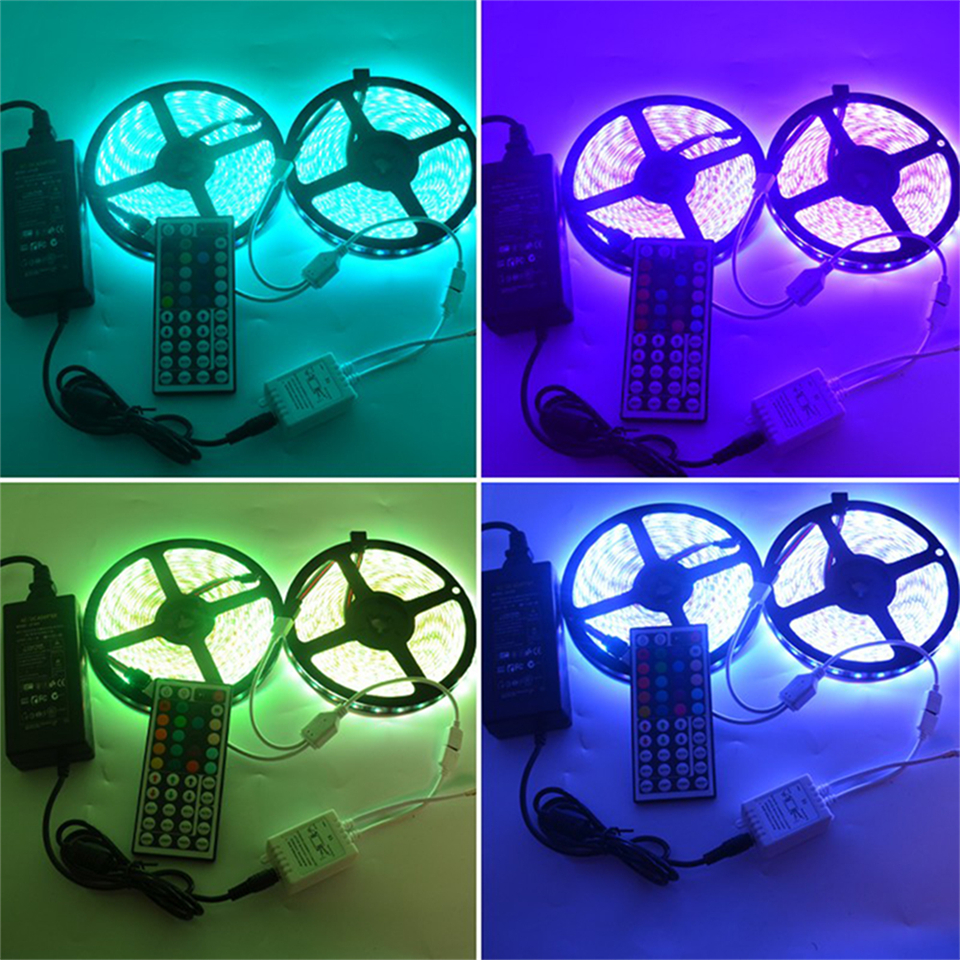 IP20 / IP65 waterproof RGB LED Strip light DC 12V 5M 10M LED lighting 3528 5050 SMD LED  ...