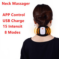 APP Control Neck Guard Chinese Magnetic Pulse Therapy Neck Massager Support Pain Relief Braces USB Charge T0306SPD