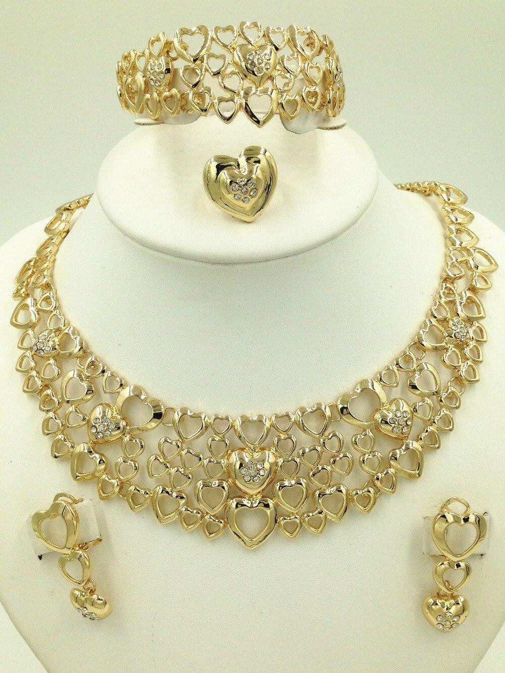The Moments Of Love Wedding Jewelry Set , Fashion Dubai Gold Color ...