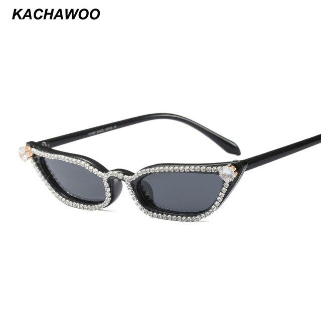 225e7e7820e Kachawoo wholesale 6pcs womens rhinestone sunglasses cat eye 2018 womens  luxury small sun glasses women beach accessories party