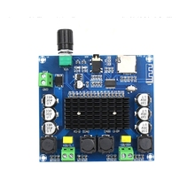 2x100 واط بلوتوث 5.0 TDA7498 مكبر كهربائي رقمي مجلس ستيريو الصوت أمبير وحدة دعم TF بطاقة AUX XH A105