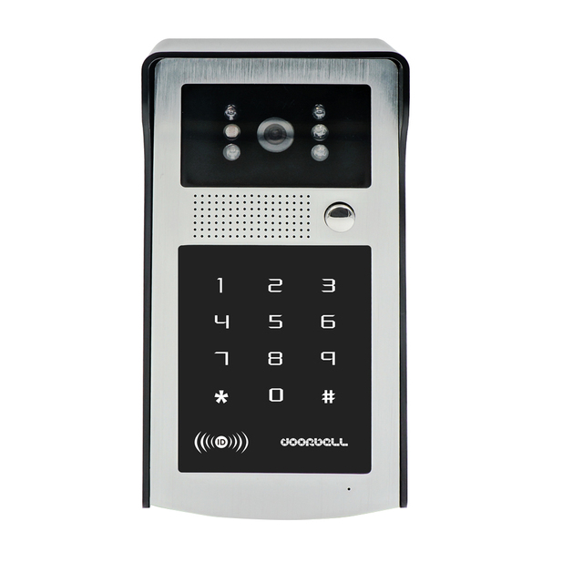 FREE SHIPPING New Night vision Waterproof Outdoor RFID Code Keypad Doorbell Camera In Stock