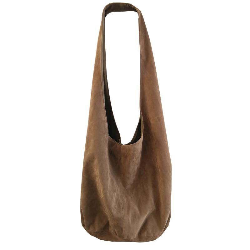 Хобо, большая сумка на плечо, сумка-шоппер, женские ретро сумки-пельмени, повседневная женская большая сумка для покупок через плечо, японск...