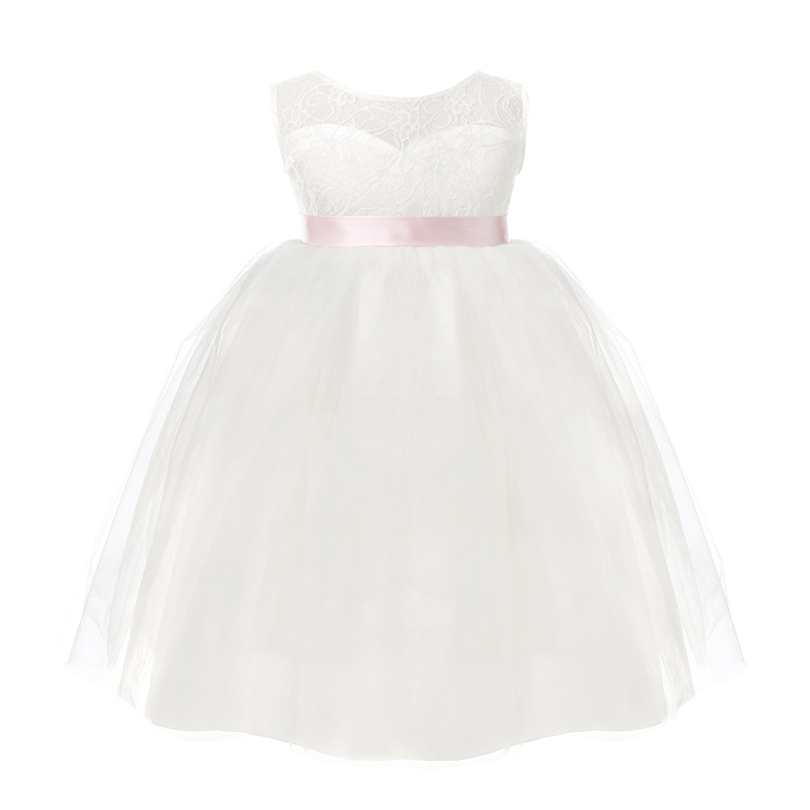 Image 3 - 2018 White First Communion Flower Girls Dresses Little Girls Real Party Dress for Wedding Kids Evening Party Pyrotechnics Gowns-in Flower Girl Dresses from Weddings & Events