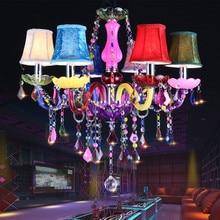 Mutfak avize Işık Fikstür K9 kristal Yatak Odası için 6 Işıklar cilalar para sala de jantar modern avizeler çin