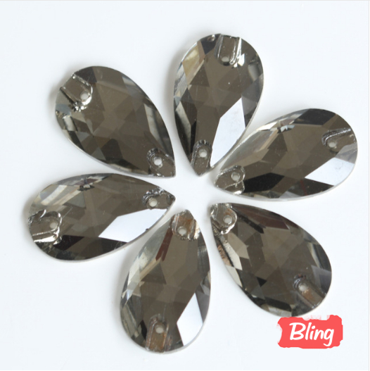 New Arrival All Sizes Black Diamond Color Flatback Sew on Rhinestone Sew-on  Beads 2 1f0224d548e8