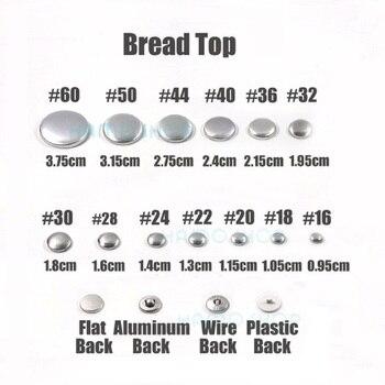 100 sztuk zestawów/partia #16-60 DIY ręcznie robiona tkanina guziki chleb kształt obszycie dookoła pokryte tkaniną osłona przycisku Metal 4 z guzikami na plecach 13s