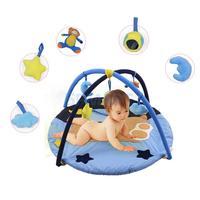 Милый медведь Детские музыкальные игровой коврик деятельности Тренажерный зал Playmat Мягкий Коврик развивающий игрушка