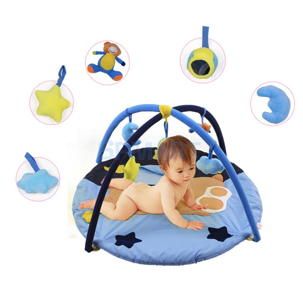 Cute Bear Baby Musical Play Mat Activity Gym Playmat Soft Mat Tummy Time Toy baby toy musical instrument activity cube play center with lights 15 functions