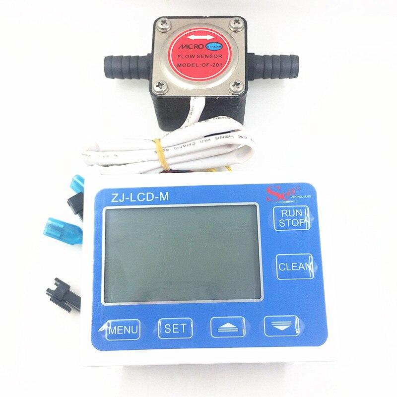 Ovale débitmètre à engrenages huile Salle de capteur de débit débitmètre de carburant jauge contre Lait produits chimiques peinture détergent indicateur de débit G1/ 2 + LCD