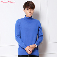 Menca Sheep Brand Jumpers Man 100 Goat Cashmere Pullovers Hot Sale Winter Warm Turtleneck Sweaters Male