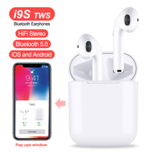 i9S i8X TWS Double Wireless Earphone Portable Bluetooth 5.0 Headset  Earbud With Mic for IPhone X 8 7 Plus For Android Phones цена