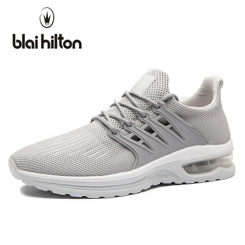 blaibilton 2018 Spring Air Cushion Shock Absorption Wedge Men Shoes Casual Mesh Breathable Students Sneakers Walking Male Shoes summer breathable air cushion fly line sports women running shoes shock absorption increase tourism shoes spring female sneakers