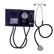 Medical Blood Pressure Monitor Meter Tonometer Cuff Stethoscope Kit Travel Sphygmomanometer