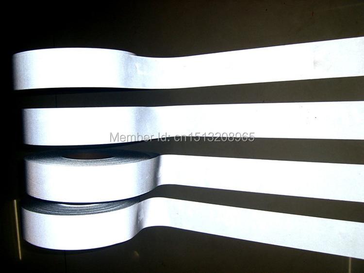 TM9805: 2 palce * 100 yardů t-c rubová vrstva reflexní textilie třídy 2 z R> 500 cd / lx.m2, reflexní páska na oblečení aincoat